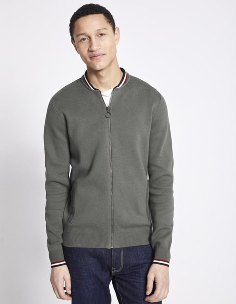 cardigan con bottoni collo Teddy - NEBUTTON_GREY - Vue de face - Celio Italia