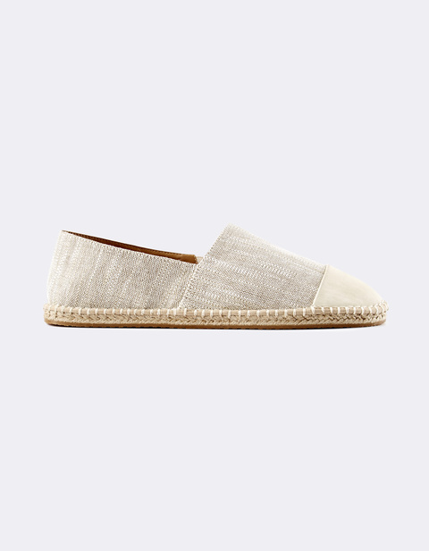 espadrillas bi-materiale - LYCORN_NATURAL - Vue de face - Celio Italia